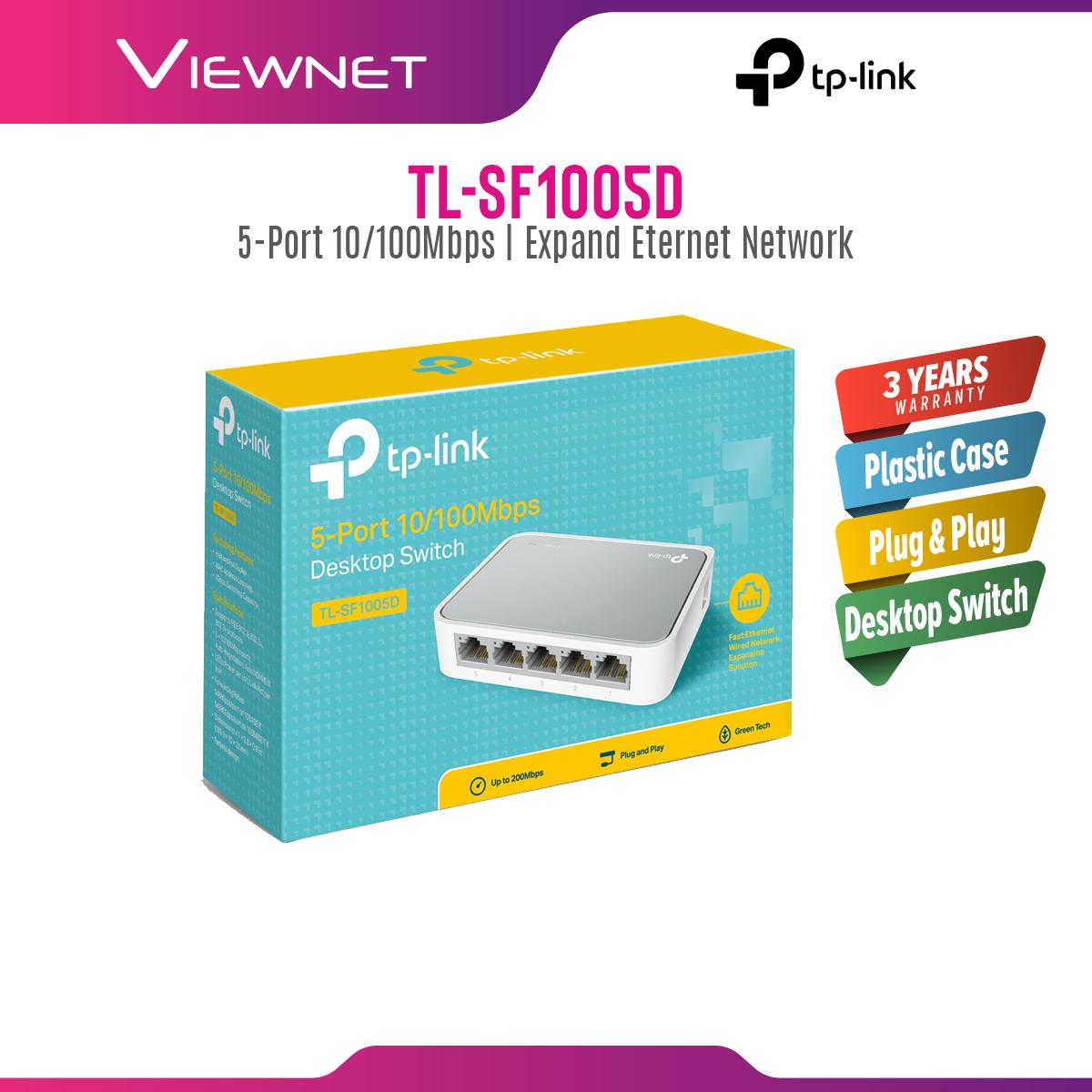TP-LINK TL-SF1005D 5-Port 10/100Mbps Desktop Network Switch