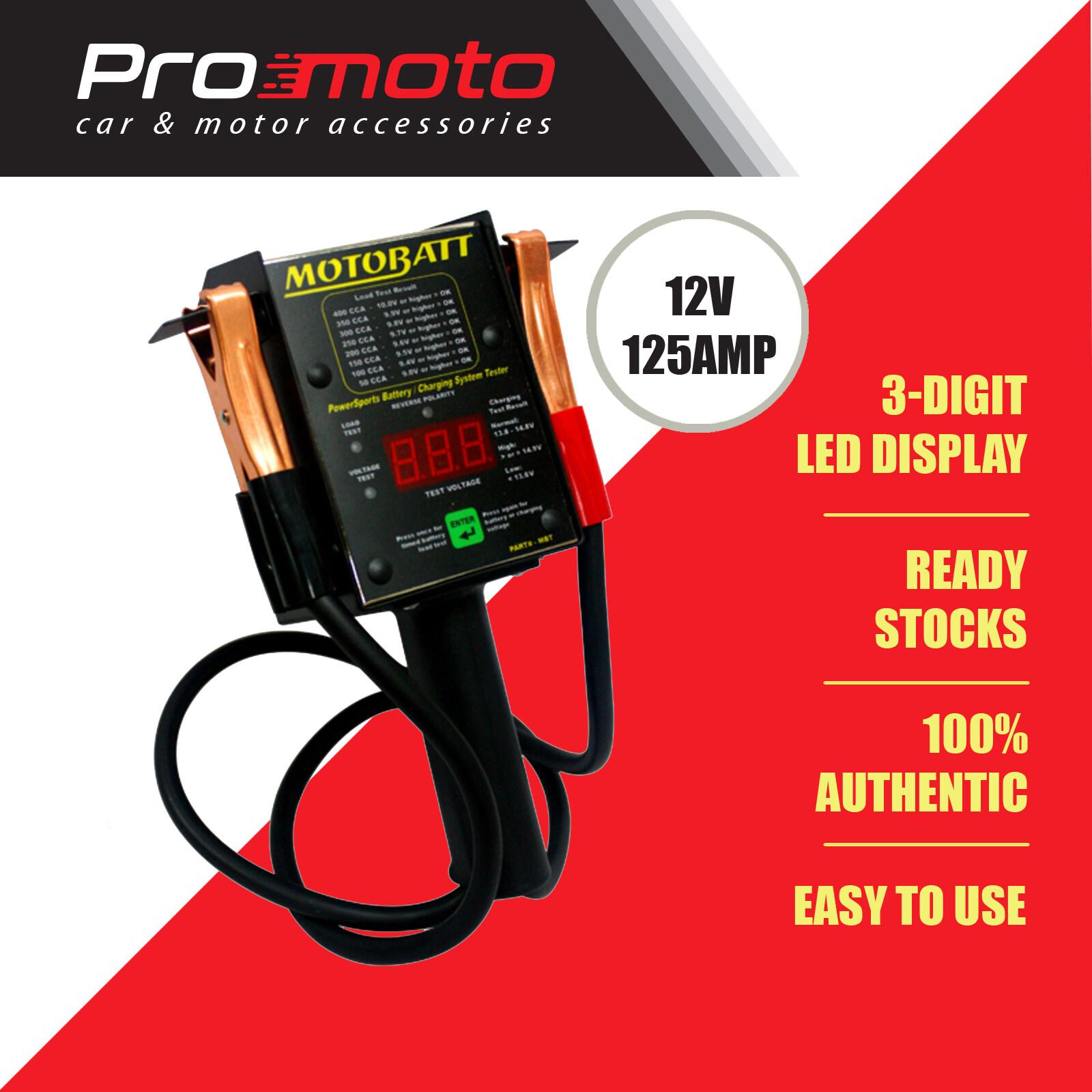 Motobatt Battery Tester MBT 125A Digital Load Tester