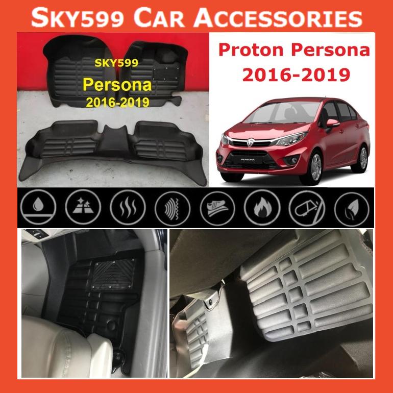 Proton Persona 2016-2020 5D Car Floor Mat/Carpet
