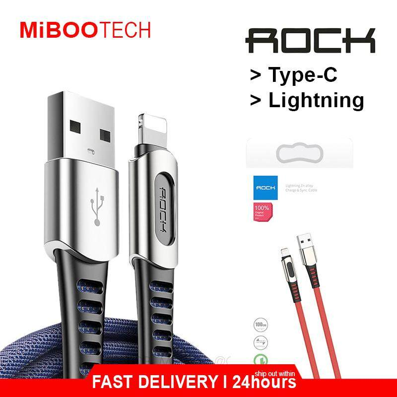 ROCK M8 100cm Fast Charging & Super Tough Cable For Samsung / Huawei Fast Charge Cable Type-C / iPhone Quick Charge Lightning Cable  2.1A Cable - Red - Type-C