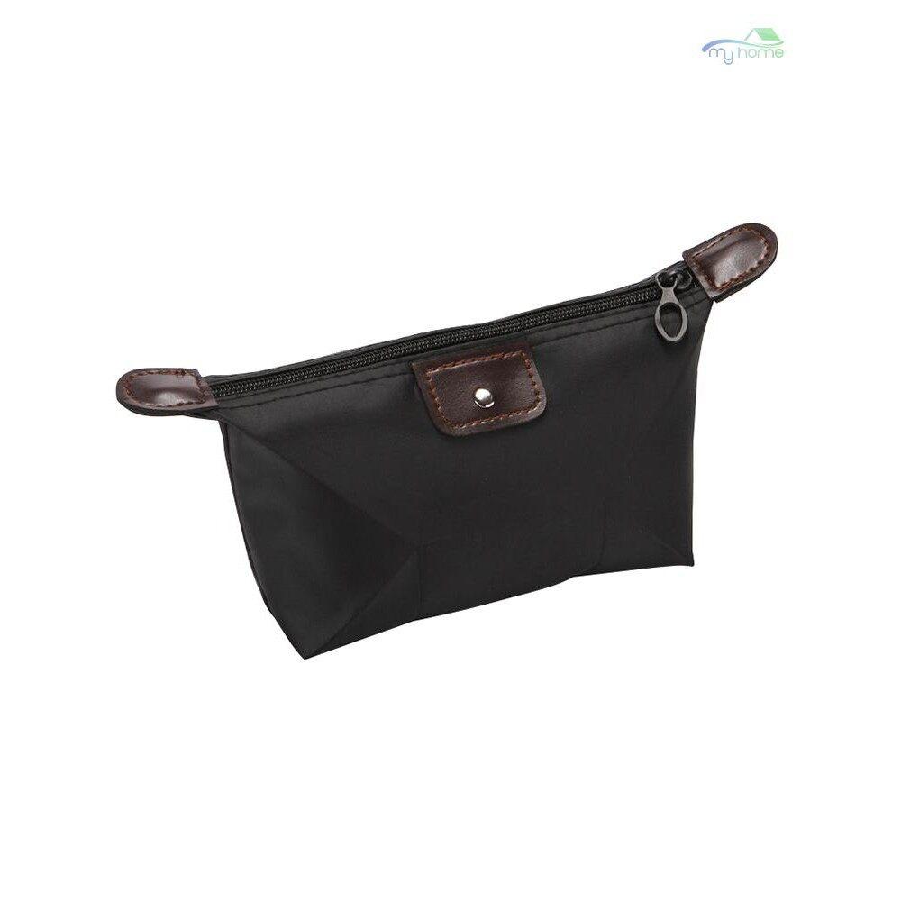 Backpack - Women Cosmetic Bags Organizer Waterproof Large Capacity Zipper Solid Makeup Storage Travel - DARK BLUE / ROSE / PINK / ROYAL BLUE / YELLOW / ORANGE / GREEN / PURPLE / RED / BLACK