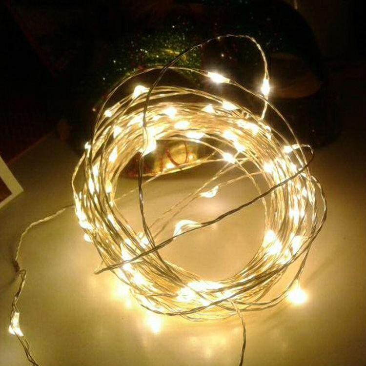 5 Meters 50 Led Battery Operated Copper / Silver Wire Christmas Decoration Fairy Light ,Warm White (Starzdeals.my)