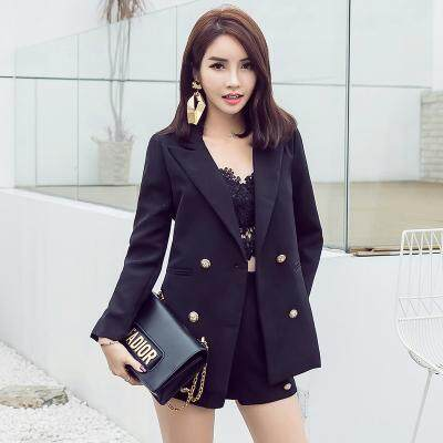 (Pre Order14 Days  JYS Fashion Korean Style Women Blazer +BottomSetCollection515-6155col515-6155--Pattern 1 Black -M