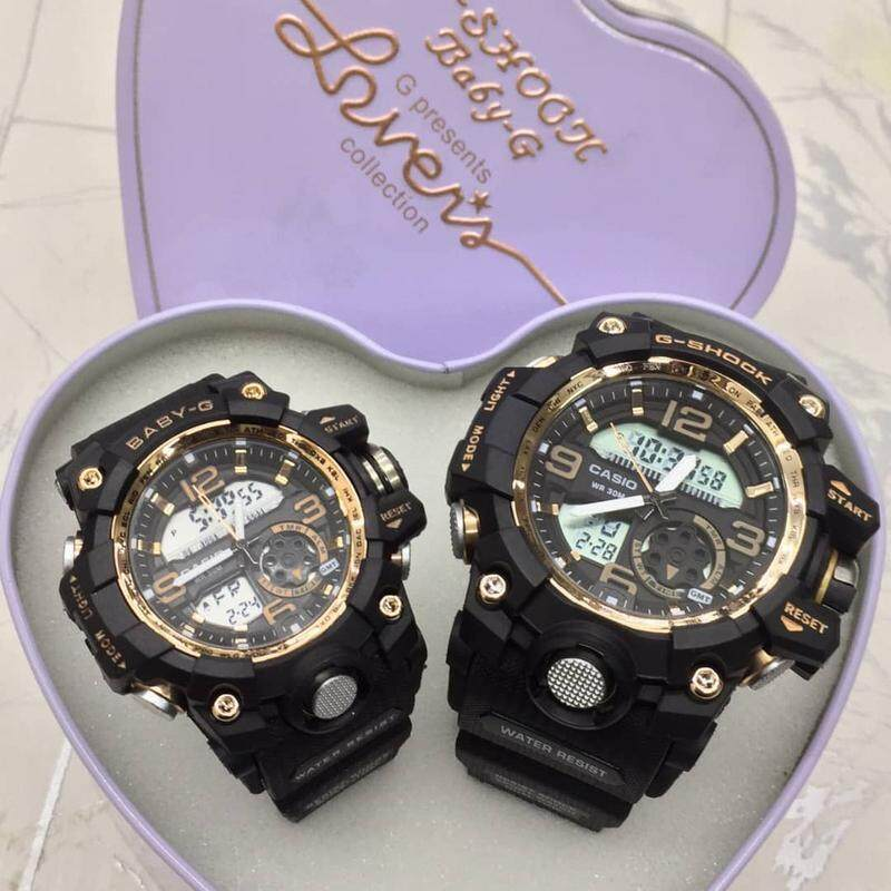 SPECIAL PROMOTION CASIO_G SHOCK_FLORA DIGITAL WATCH SET FOR COUPLES