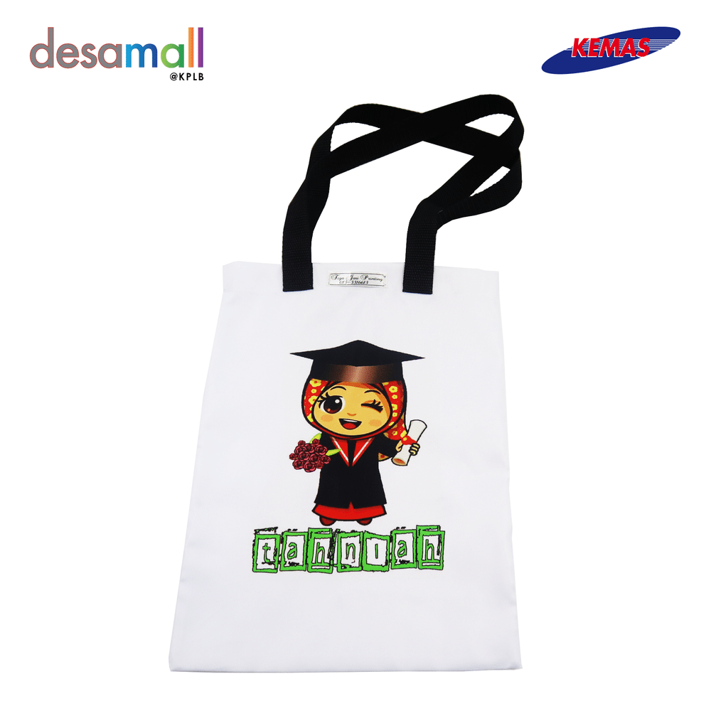 AQIL PRINTING Graduation Girl Tote Bag (33CM x 25CM)