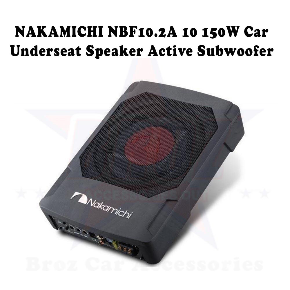 NAKAMICHI NBF10.2A 10 150W Car Underseat Speaker Active Subwoofer