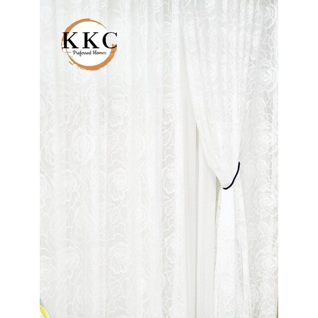 KKC Romantica Floral Tulle Voile Lace Sheer Curtain - Ready Stock Ship from Malaysia