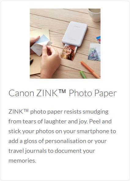 CANON INSPIC PV-123 MINI PHOTO PRINTER INSTANT WIRELESS BLUETOOTH ZINK PRINTER (MINT GREEN)