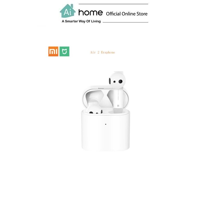 XIAOMI AIR 2 [ True Wireless Earphone ] with 1 Year Malaysia Warranty [ Ai Home ] XIAOMI True Wireless Earphone AIR 2 (White)