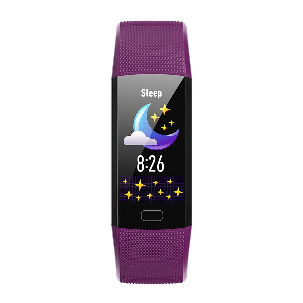 Smart Watch - Y10 Colorful Band O2 Monitor 1.14inch UI Display Multi-sport Modes Smart Watch - RED / PURPLE / BLACK / BLUE