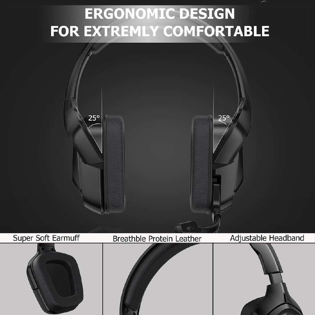 Over-Ear Headphones - Mic/Led Gaming Head SET PC Gamer Stereo Headphones For PC Laptop PS4 Xbox -3c - BLACK / CAMOUFLAGE GRAY / CAMOUFLAGE WHITE