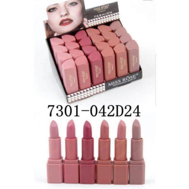 FREE GIFTMiss rose lips 24pcs lipstick