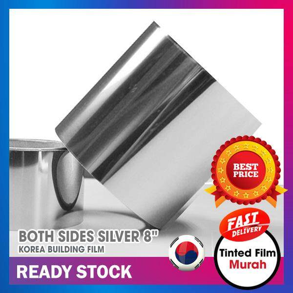 """Silver Line 8""""x1200"""" for Car Windscreen Top (Both Sides Silver)"""