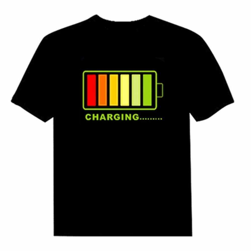 Cell Audio-controlled Luminescent Music T-shirt for Men and Women L (L)