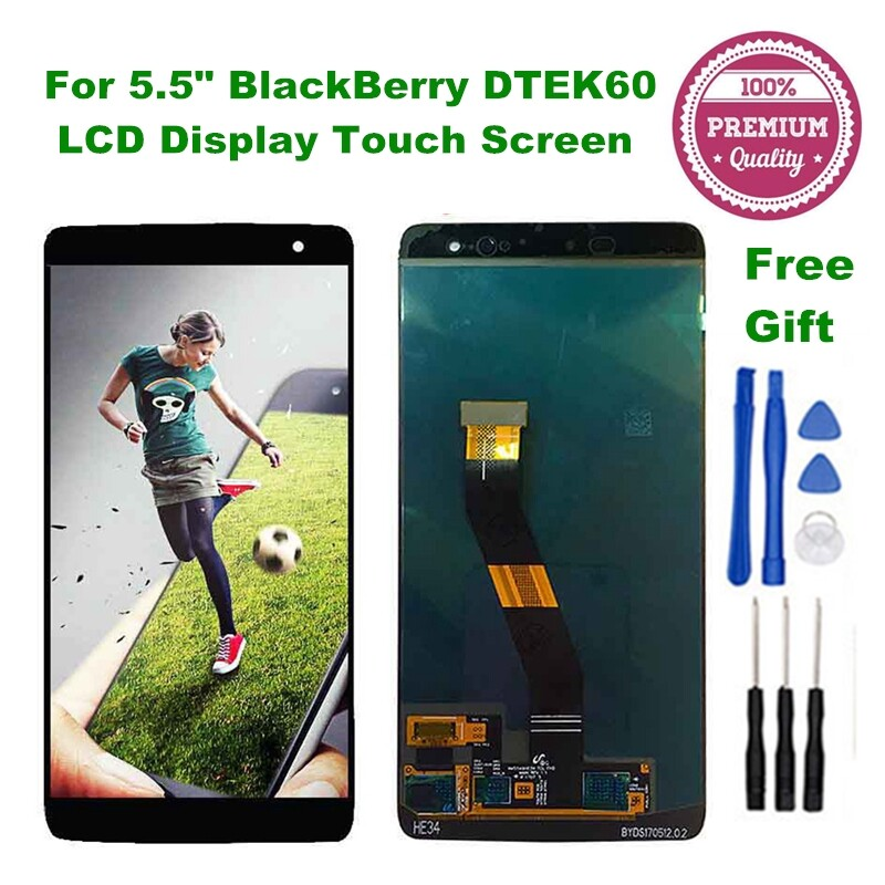 For 5.5 BlackBerry DTEK60 LCD Display + Touch Screen Digitizer Assembly + Tools