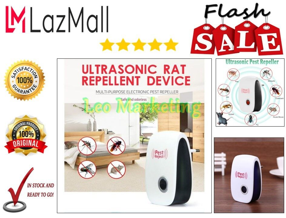 Leo Marketing 100% Original Electronic Pest Repeller Anti Mosquito Insect Rejector Rat Roach Bug Roach