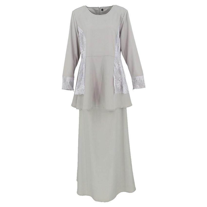 Harga QFM Faralisa Flower Lace Baju Kurung Moden 2020 Raya Sepasang Muslimah Baju Raya Terbaik