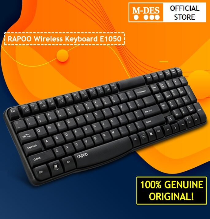 Rapoo E1050 Wireless Keyboard 2.4Ghz with Split resistant design Wireless Connection Keyboard