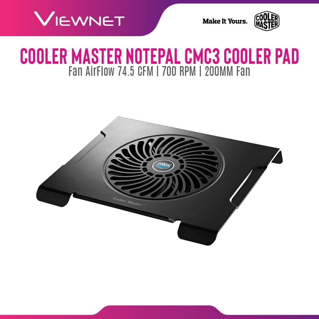 Cooler Master Notepal CMC3 Silent 200mm Fan Ergonomic Notebook Cooler for up to 15