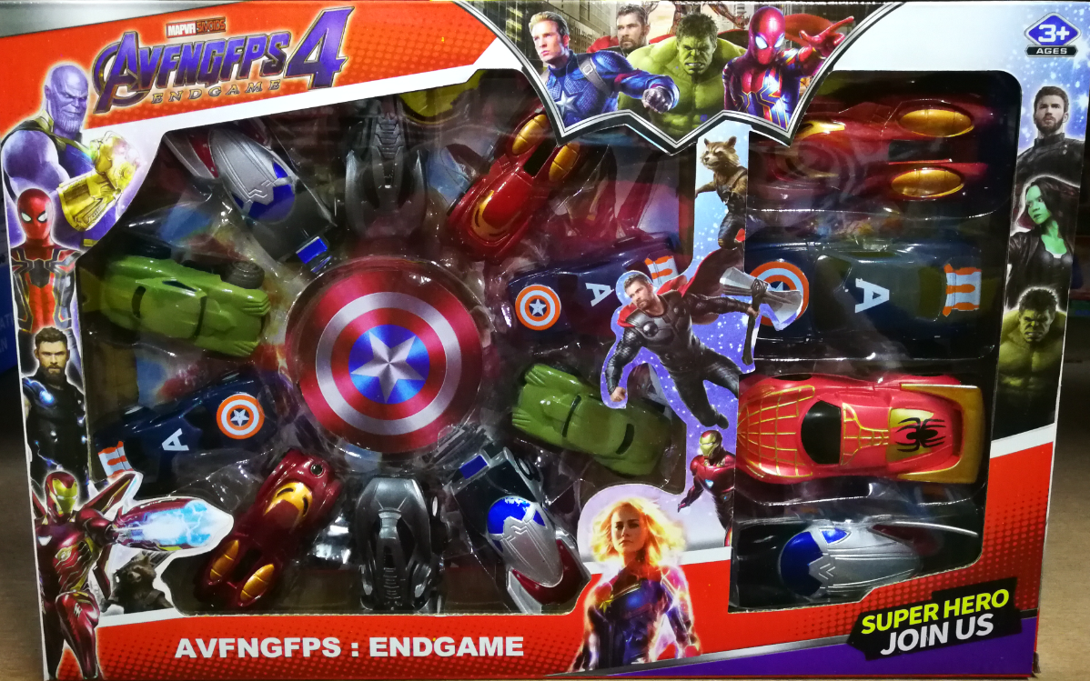 Kids Toy - Avengers Super Hero Small Mini Car Toys Set For Kids