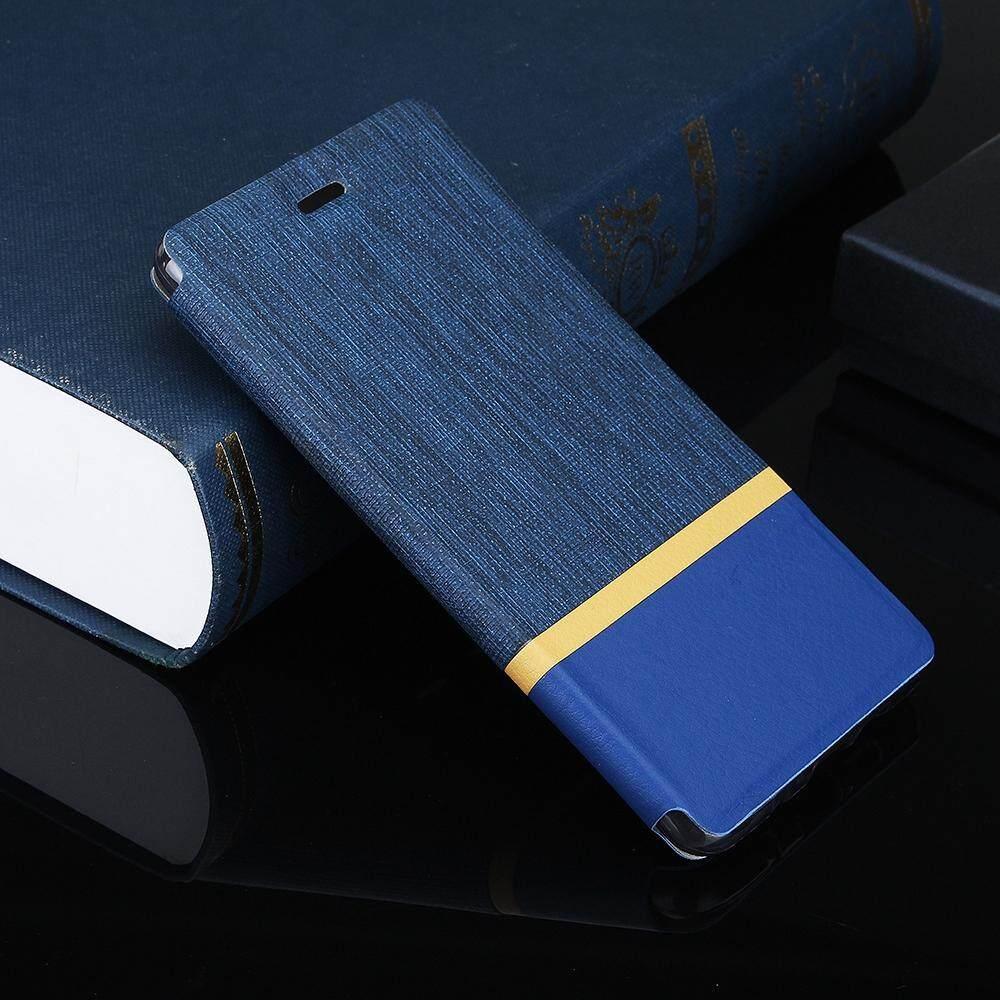 iPh Soft Cover - Flip Cloth Pattern+PU Leather Case For Xiaomi Mi 6X / Xiaomi Mi A2 - BLACK / GREY / BLUE