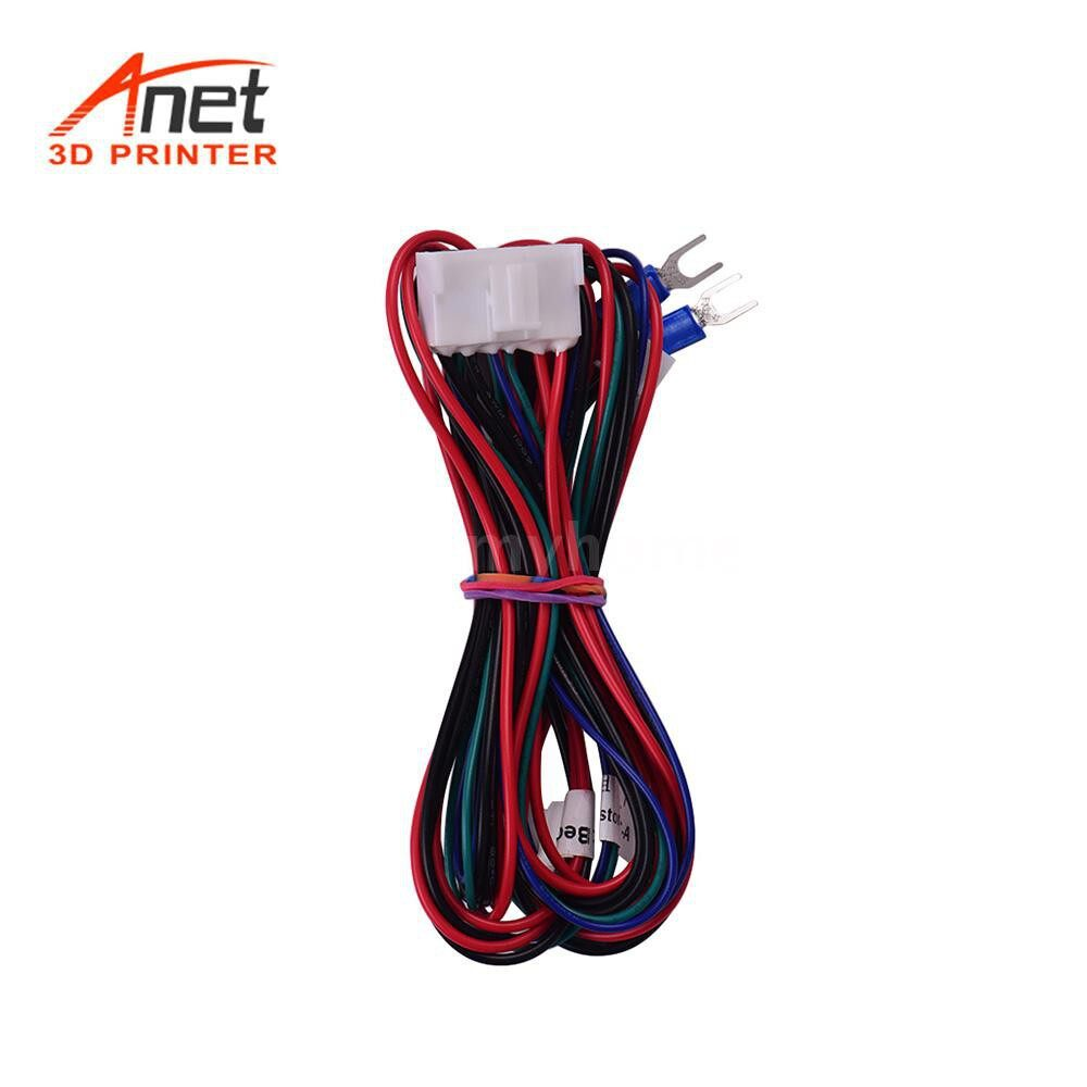 Printers & Projectors - Anet Hotbed Wire(20AWG) Heatbed Heated Bed Wire Line Cable for Anet A8 Plus E16 3D Printer Upgrade - MULTICOLOR