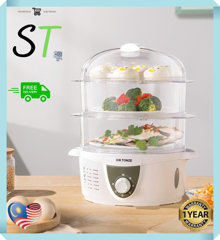 TONZE Smart Electric Steamer 3 Layer Automatic Timer DZG-40AD
