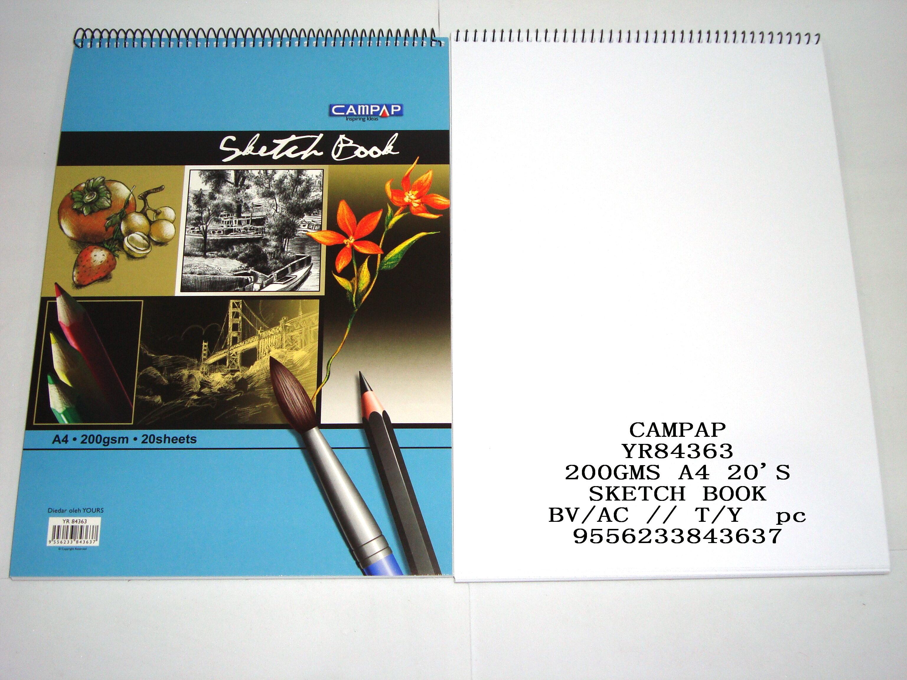 CAMPAP YR84363 200gms 20's A4 SKETCH BOOK