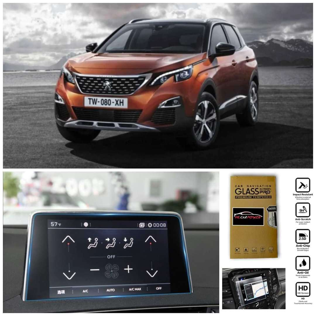Peugeot 3008 / 5008 2018-2020Head Unit Navigation Screen Protector Tempered Glass