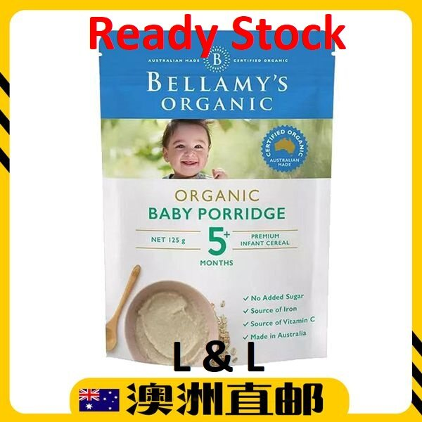 [Ready Stock EXP : 01/2021yr ] Bellamy Organic Baby Porridge 5 Months 125g (Made in Australia)