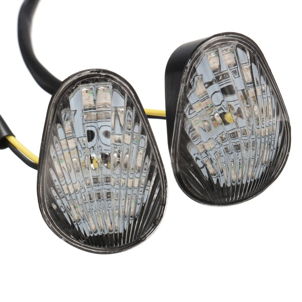 Car Lights - Clear LED Flush Mount Turn signal Indicator lights For Yamaha YZF R1 R6 R6S 12V - Replacement Parts
