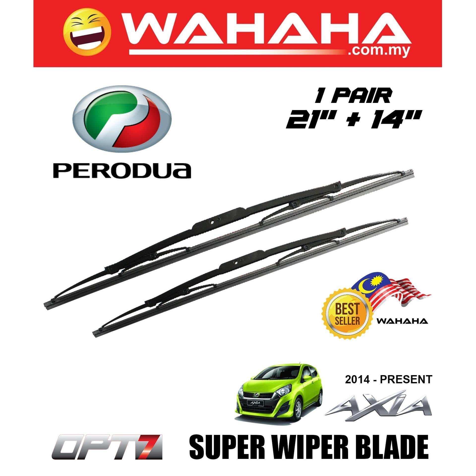 PERODUA AXIA OPT7 Car Window Windshield Super Wiper Blade 21 +14