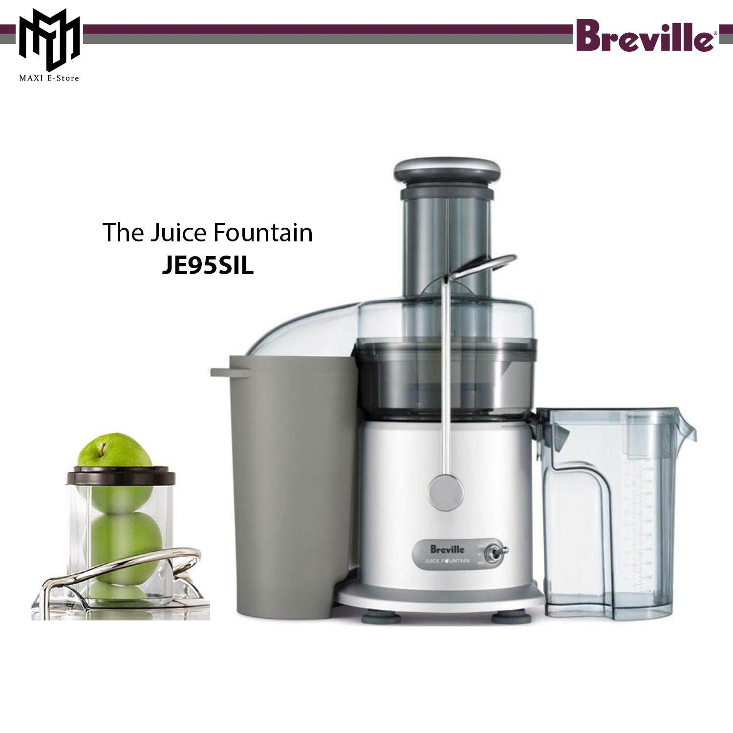 Breville JE95 Juice Fountain Large Feed Chute Juicer 800W