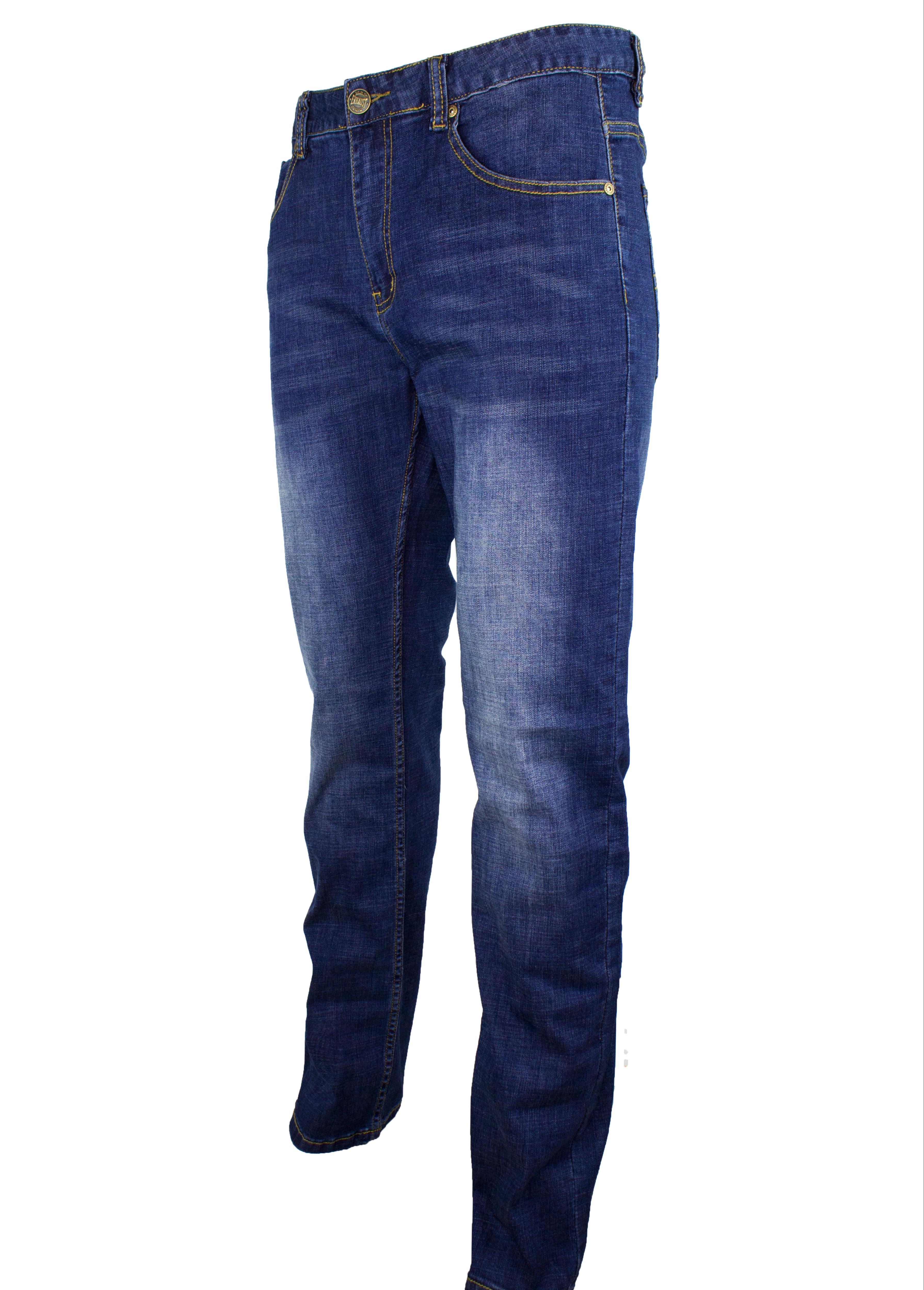 Stretchable Denim Long Pants Straight Cut 910