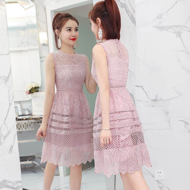 JYS Fashion Korean Style Women CNY Festive Red Dress Collection 526- 8653