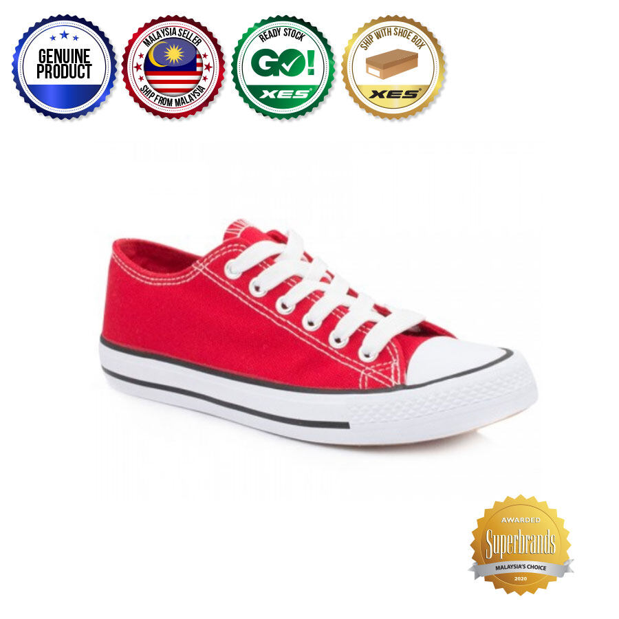XES Ladies LCHZ160 Colourful Sneakers - Red/Gree/Navy Blue