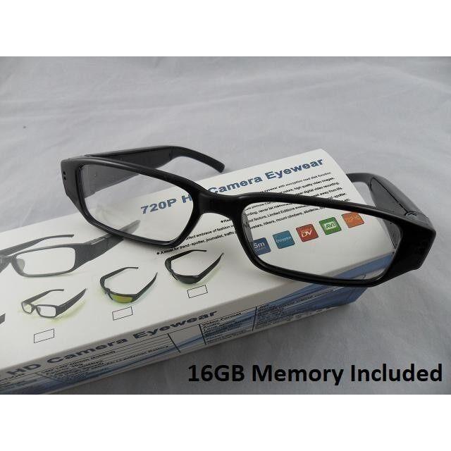 16GB 720P HD SPY EYEWEAR GLASSES HIDDEN CAMERA