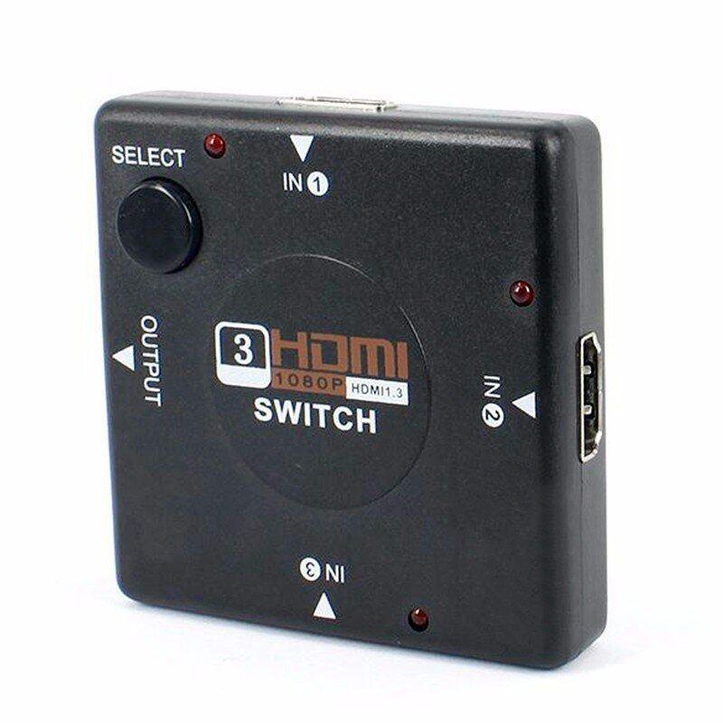 3 Port 1080P Video HDMI Switcher/Splitter Hub Adapter for HDTV DVD PS3 PC