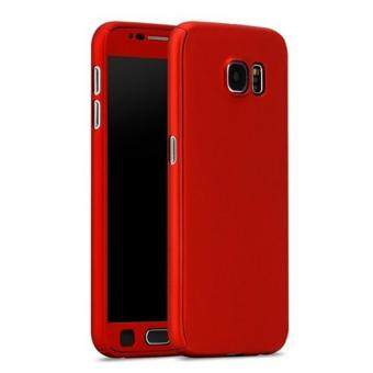 Harga 360 Degree Full Body Protection Cover Case With Tempered Glass forSamsung Galaxy A7 2016 (Red)
