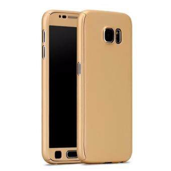 Harga 360 Degree Full Body Protection Cover Case With Tempered Glass forSamsung Galaxy Note 3 (Gold)