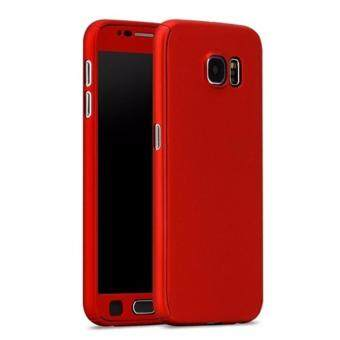 Harga 360 Degree Full Body Protection Cover Case With Tempered Glass forSamsung Galaxy Note 5 (Red)