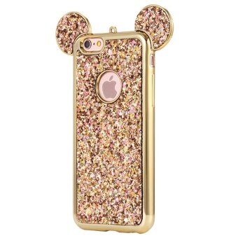 3D Mickey Mouse Silicone Case Fashion Bling Glitter Ultra Soft TPU Cover for IPhone 7 4.7