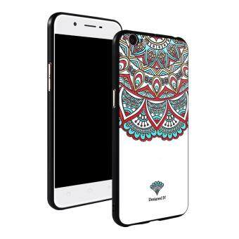 3D Relief Silica Gel Soft Phone Case for OPPO A57 with a Rope and a Ring