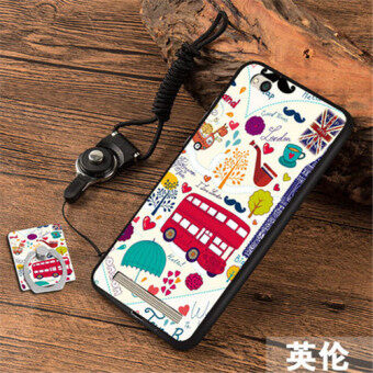 3D Relief Silica Gel Soft Phone Case for Xiaomi Redmi 5A with a Rope and a