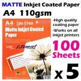5 Packs A4 Matte Inkjet Coated Paper A4 Size 100 Sheets 110g / 100's 110gsm (Each Pack 100Sheets) I JIMAT