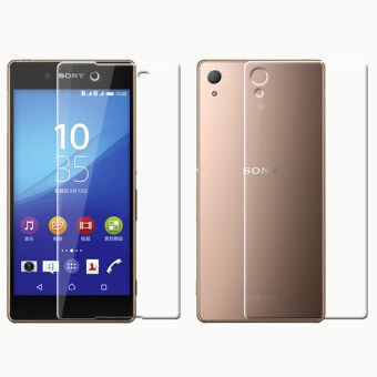 9H Premium Tempered Glass Front and Back Screen Protector Film for Sony Z4 Z3+ (Clear