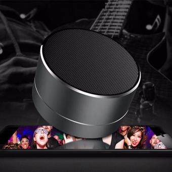Harga A10 Speaker Potable Metal Wireless Bluetooth Speaker Mini Super Bass Subwoofer Stereo Music Player LED FM Bass TF SD Card