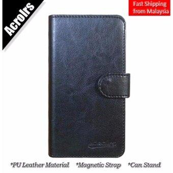 Acrorls Samsung Galaxy J1 Ace Case Flip Cover Casing Black