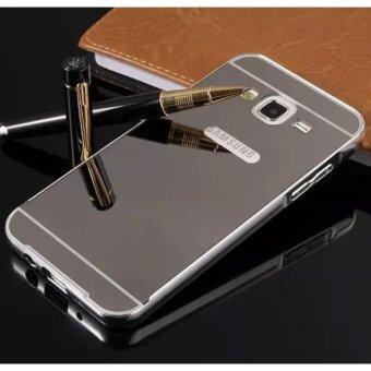 Fitur Aluminium Metal Mirror Bumper Case Cover For Samsung Galaxy J2