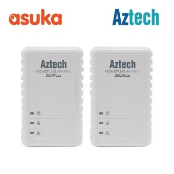 Aztech HL113E Twin Pack HomePlug AV 200Mbps Ethernet Adapter